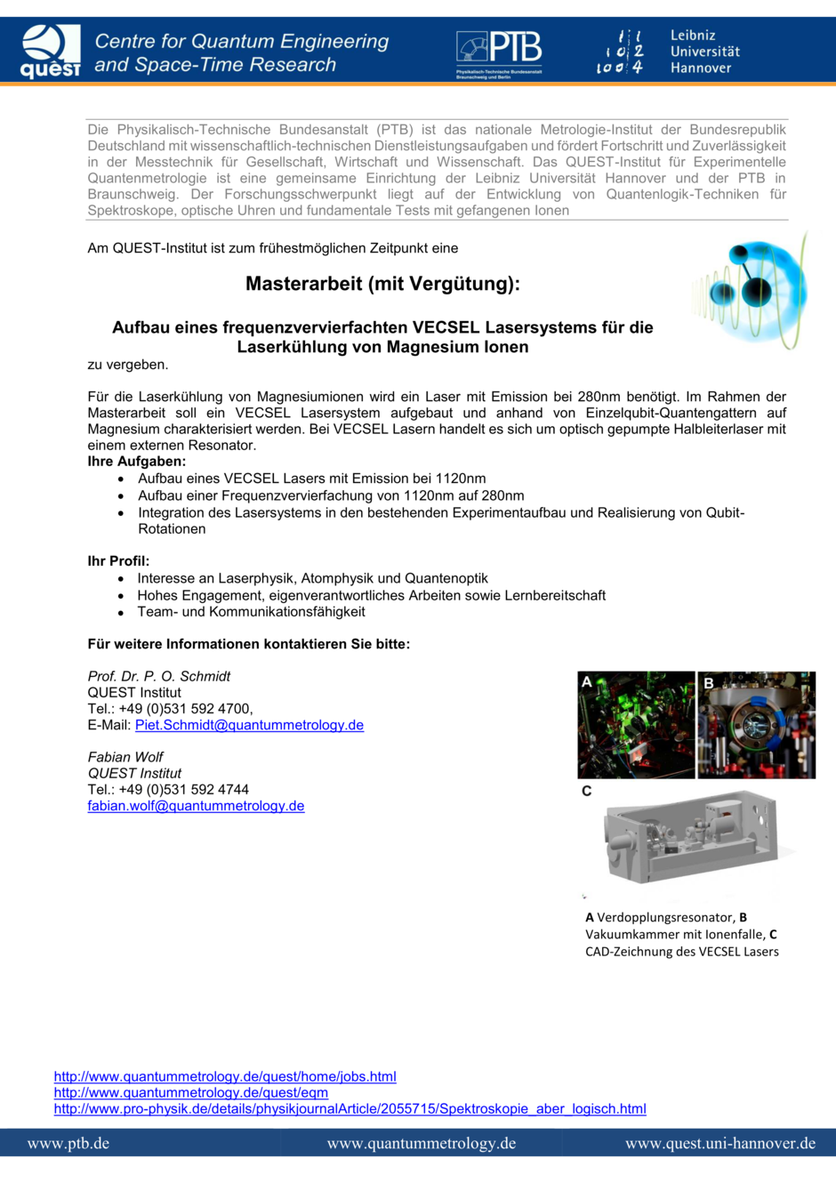 Quantummetrology - Jobs