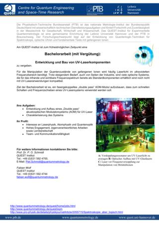 Quantummetrology - Jobs